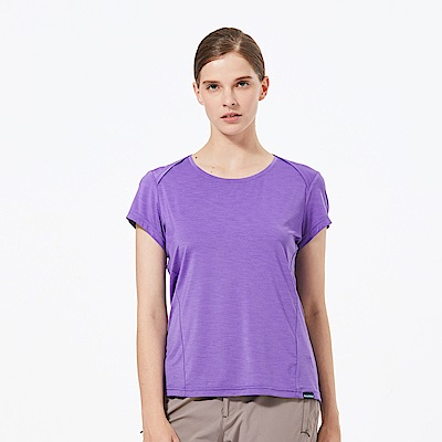 【HAKERS 哈克士】女 抗UV快乾圓領衫-紫色