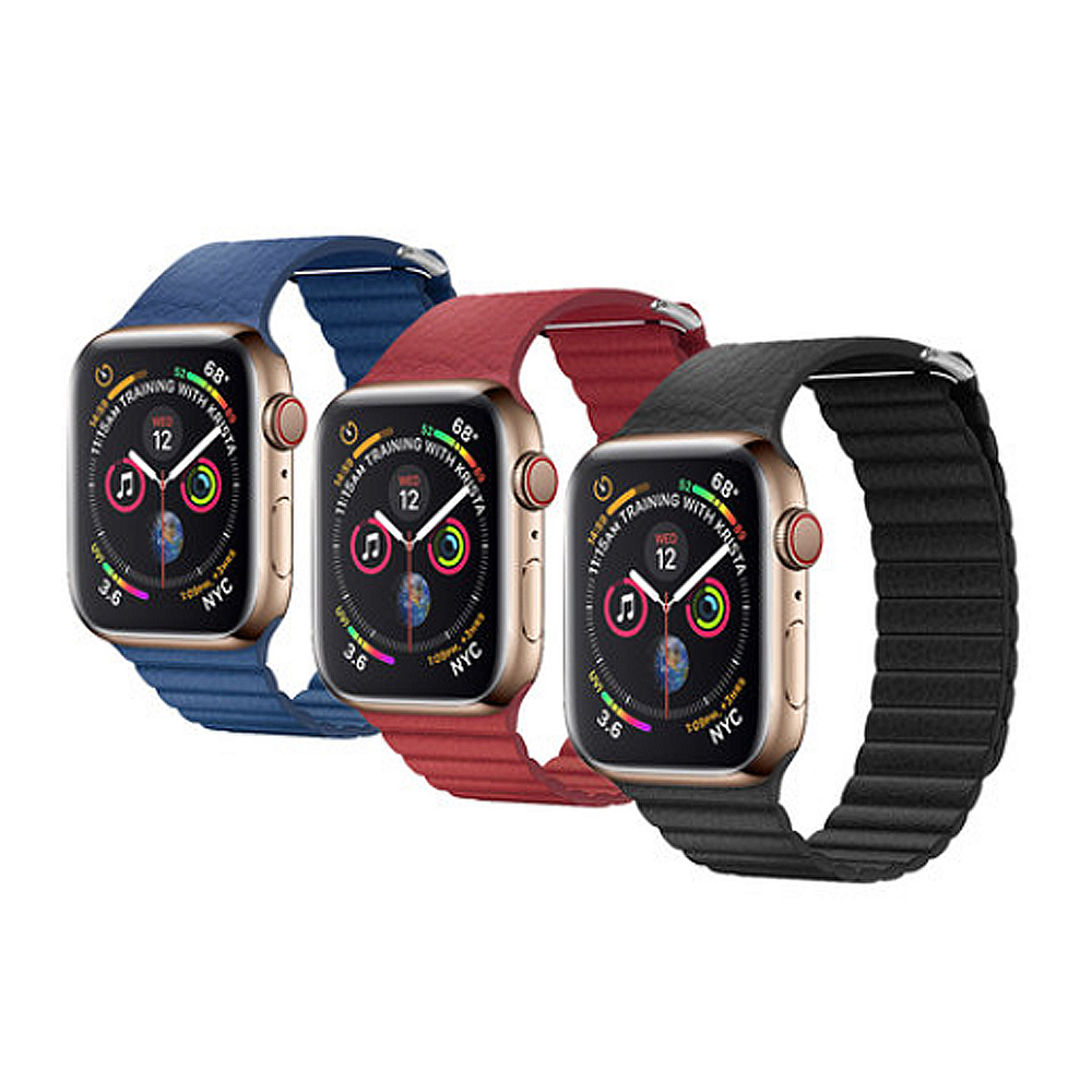 QIALINO Apple Watch (38/40mm) 真皮製回環形錶帶 @ Y!購物