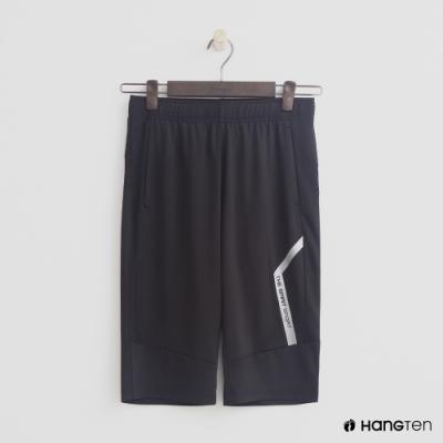 Hang Ten-童裝運動標語字條短褲-黑