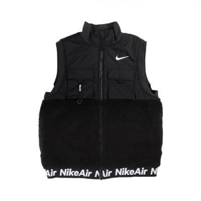 Nike 背心 Synthetic-Fill Vest 男款 運動休閒 多口袋 絨毛 保暖 穿搭 黑 白 CU4175010