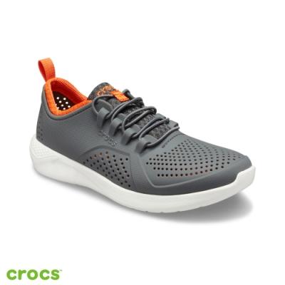 Crocs 卡駱馳 (童鞋) LiteRide徒步繫帶鞋 206011-04O
