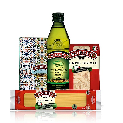 BORGES百格仕 阿爾貝吉納橄欖油500mlx12 贈:義大利直麵x3+筆管麵x3+砧板