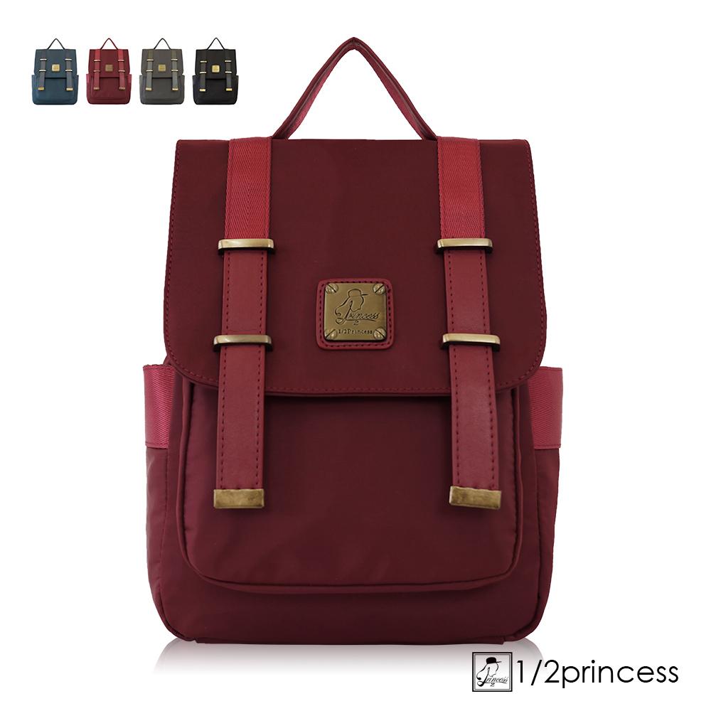 1/2princess高磅防潑水尼龍文青學院雙扣2way後背包-4色[A2762] product image 1
