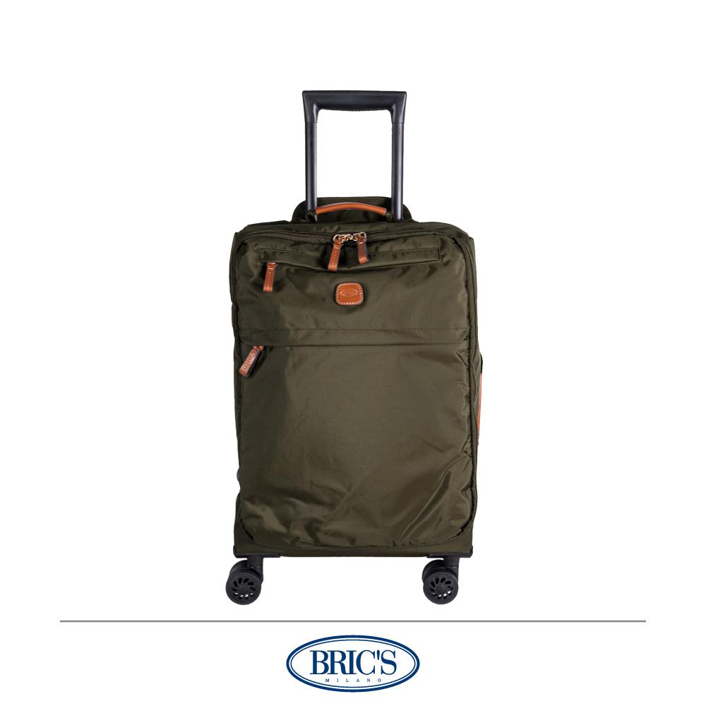 BRICS 義大利 20吋 登機箱 超輕量 小牛皮防水布箱 橄欖綠