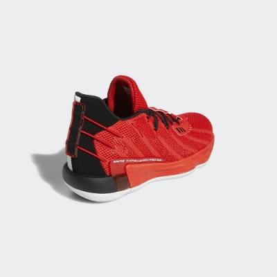 adidas 籃球鞋 緩震 包覆 運動鞋 男鞋 紅 FZ0206 DAME 7