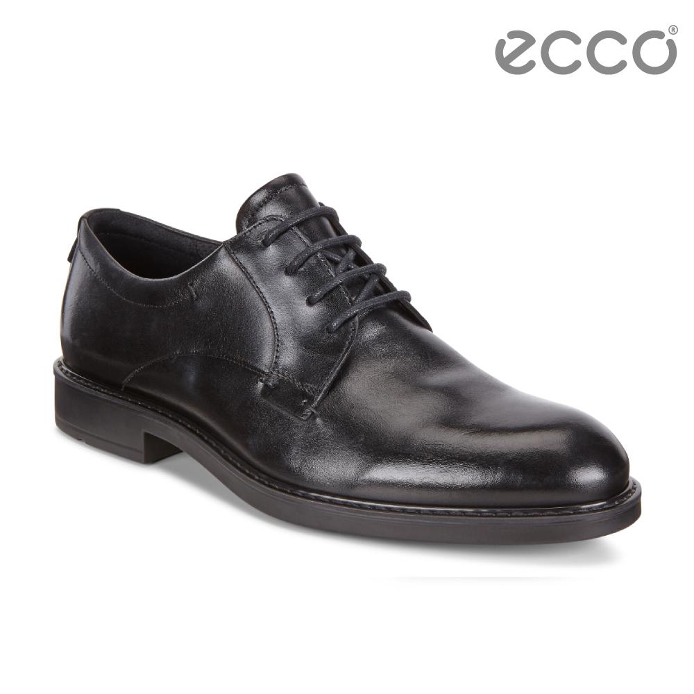 ECCO VITRUS III 商務正裝綁帶紳士鞋 男-黑