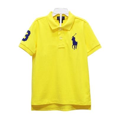 Ralph Lauren 男童數字3經典大馬短袖POLO衫-黃色(3歲/3T)