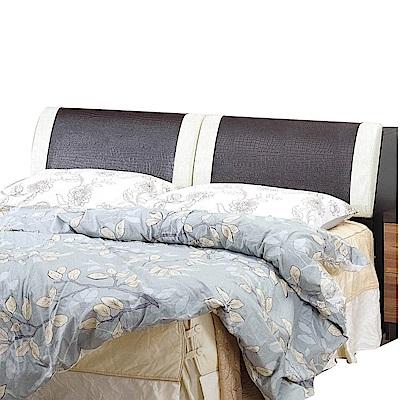 文創集 波哥利 時尚5尺皮革雙人床頭箱-152x31.5x84.5cm免組