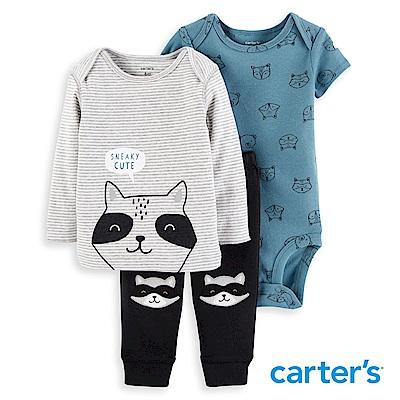 Carter's 浣熊造型三件組套裝