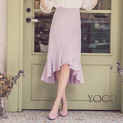 東京著衣-yoco優雅質感魚尾造型中長裙-S.M.L(共一色)