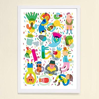 摩達客 西班牙知名插畫家Judy Kaufmann藝術掛畫-Party系列03