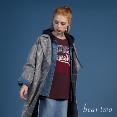beartwo - 英文字母造型口袋T - 紅