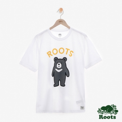 男裝Roots台灣國慶黑熊短袖T恤-白