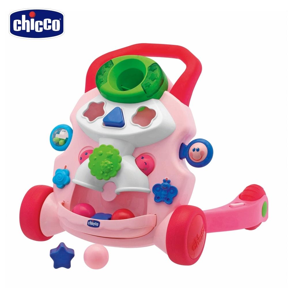 chicco-寶貝音樂助步車(童話粉)