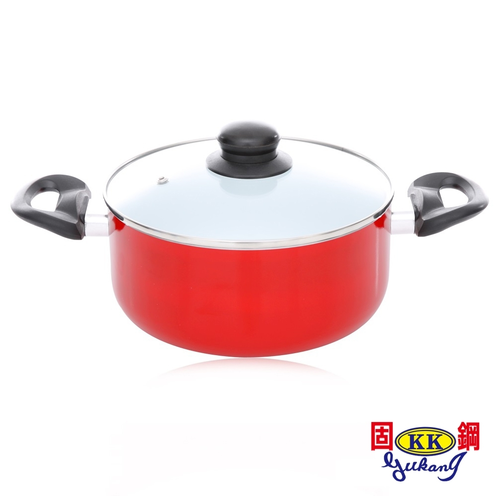 [時時樂限定]固鋼-紅色法拉利白陶瓷湯鍋18/20cm