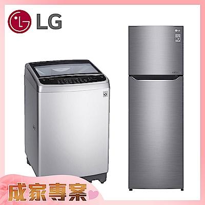 【組合賣場】LG WT-ID137SG精緻銀洗衣機+GN-L307SV星辰銀電冰箱