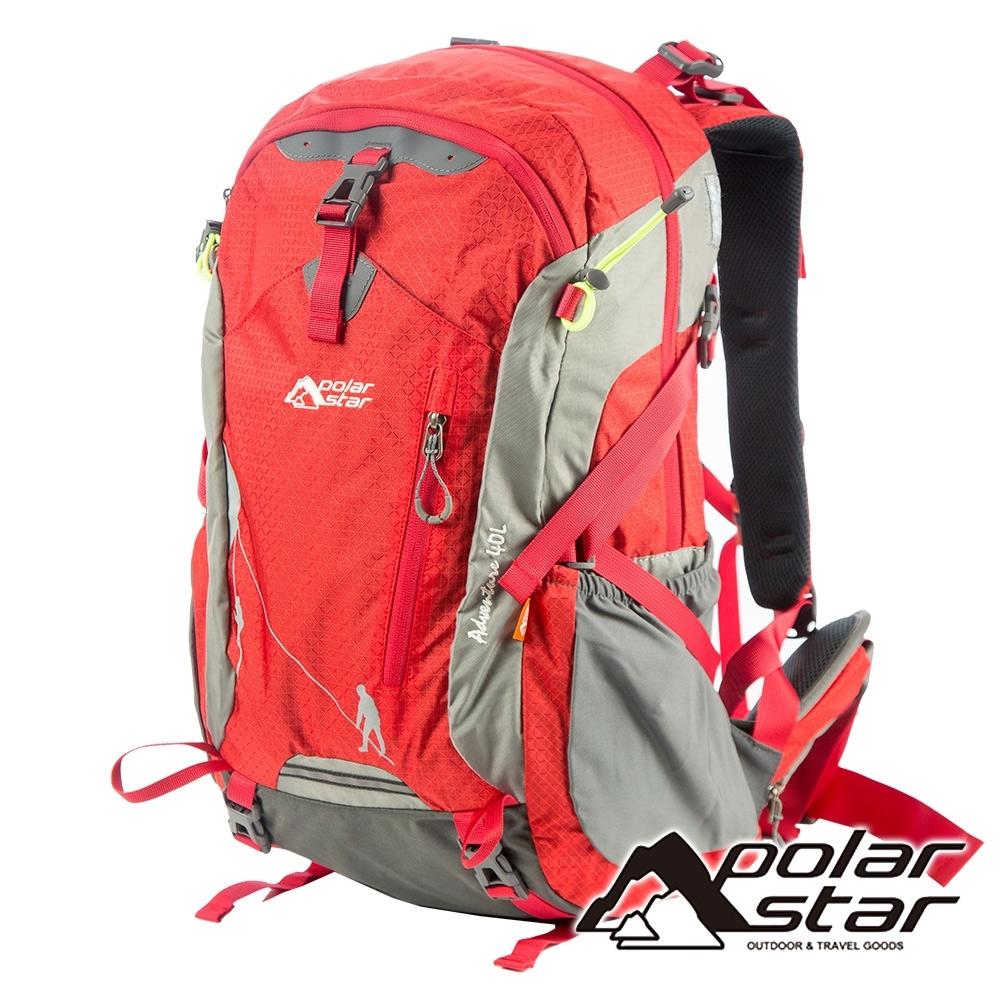【PolarStar】透氣網架背包 40L『紅色』P19804