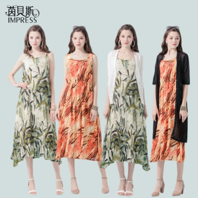 CorpoX & Impress 女款雪紡洋裝+薄罩衫-4件組