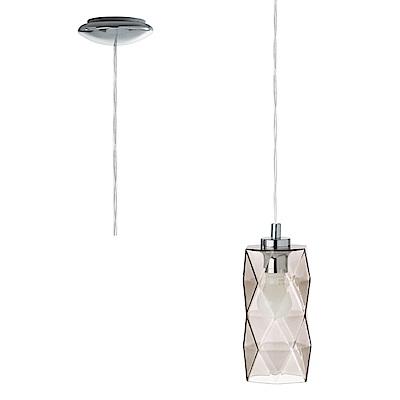 EGLO歐風燈飾 美型雙色玻璃單燈框式吊燈(不含燈泡)