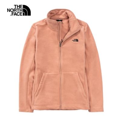 The North Face北面女款粉色抓絨立領外套|4U88R13