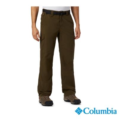 Columbia 哥倫比亞 男款-UPF50快排長褲-軍綠UAE80070AG