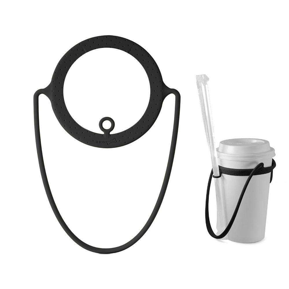 Bone Cup Tie 環保杯綁 - 飲料杯提袋再進化-經典黑白兩入組