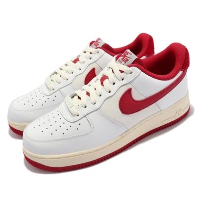 Nike 休閒鞋 Air Force 1 07 LV8 男鞋 經典款 皮革 奶油中底 復古 球鞋 穿搭 白 紅 DO5220-161