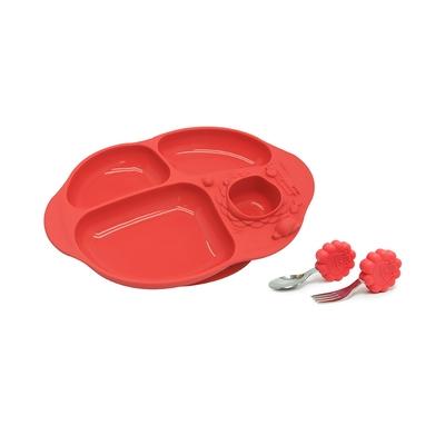 【MARCUS&MARCUS】手握吸力餐盤學習禮盒組-獅子