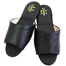 壓紋氣墊室內皮拖鞋6雙入 (咖啡/黑色/米色)
