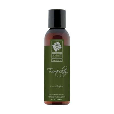 美國Sliquid-Tranquility 寧靜 天然植物萃取 調情按摩油 125ml-椰子馬鞭草  情趣用品/成人用品