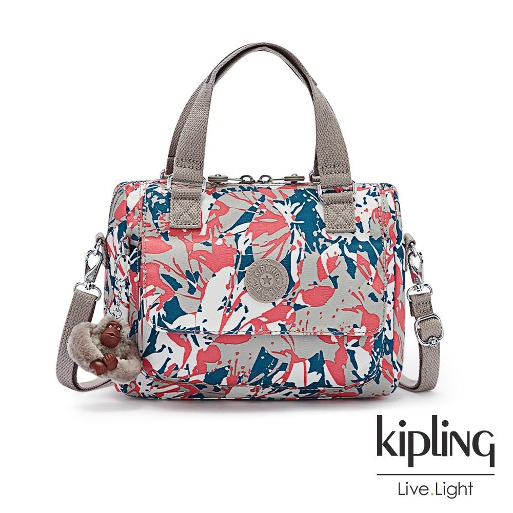 Kipling 碰撞魅力潑墨翻蓋手提側背包-ZEVA