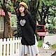 冬季旅行系列~厚刷毛KITTY刺繡愛心格紋接裙襬洋裝-OB嚴選