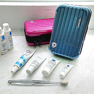樂嫚妮 過夜包/航空包/防塵收納包/仿行李箱造型-冰河藍