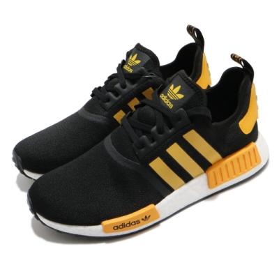 adidas 休閒鞋 NMD R1 襪套式 男鞋 愛迪達 三葉草 Boost底 緩震 黑 黃 FY9382