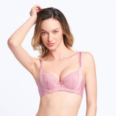 黛安芬-美型嚴選系列 包覆托高 B-E罩杯內衣 粉藕色