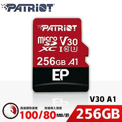 Patriot美商博帝 EP MicroSDXC U3 V30 A1 256G 記憶卡