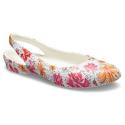 Crocs 卡駱馳 (女鞋) 伊芙花紋露跟鞋 204957-990 @ Y!購物