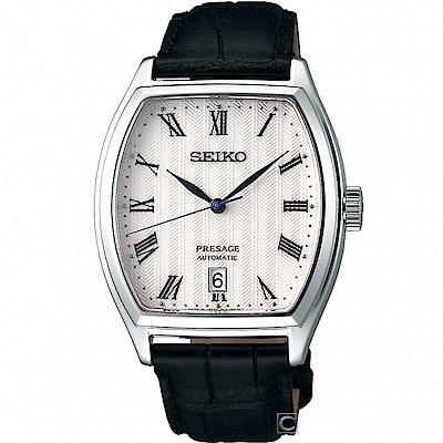 SEIKO Presage 經典時尚機械腕錶(SRPD05J1)白/37mm