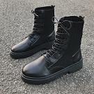 KEITH-WILL時尚鞋館-冬氛俏皮可愛卡通踝靴-黑色