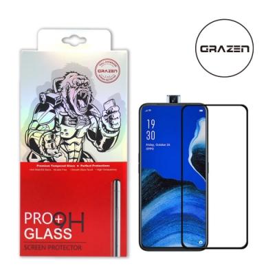 【格森GRAZEN】OPPO RENO 10X滿版(黑)鋼化玻璃