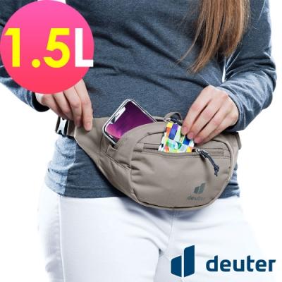 【deuter 德國】Urban Belt 1.5L 輕量休閒腰包3910420胡椒灰/胸包/側背包/路跑/慢跑