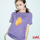X-girl POP OUT LOGO S/S REGULAR TEE短袖T恤-紫