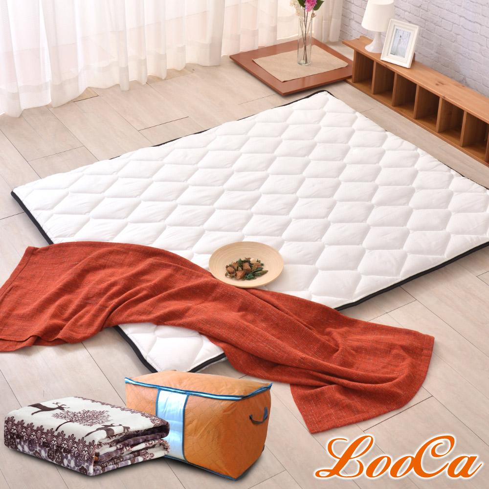 (開學組)LooCa 3M防潑水技術-超厚8cm兩用日式床墊-雙人5尺