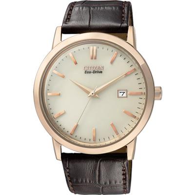 CITIZEN 痞子紳士光動能時尚腕錶(BM7193-07B)