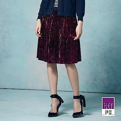 ILEY伊蕾 優雅奢華蛋糕絨長裙魅力價商品(藍/紅/鐵灰)