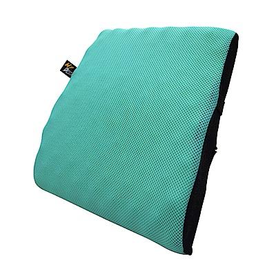 YARK透氣舒適腰靠(藍綠色)-急速配