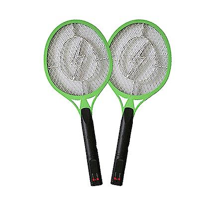 (2入組)NAKAY 充電式三層防觸電捕蚊拍電蚊拍(NP-02)伸縮充電插頭