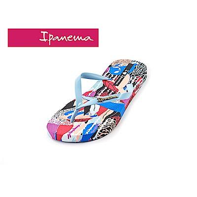 IPANEMA Animal planet人字拖鞋-淺藍色