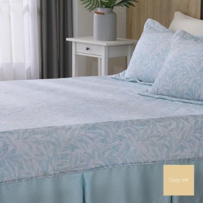 Cozy inn 湖綠蔓草 雙人 100%萊賽爾天絲枕套床包組