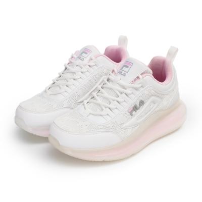 【FILA】DEVIATOR 慢跑鞋 女鞋-白/粉(5-J327V-151)